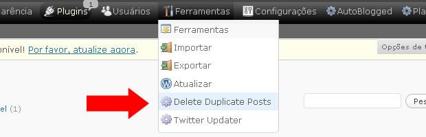 Plugin WordPress Artigos Duplicados01