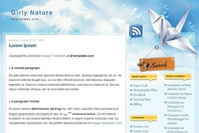 Template Blogger 01 – Girly Nature Template