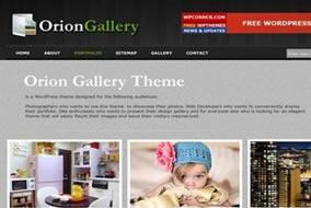 Template WordPress Orion Gallery, seu blog como Galeria de Imagem