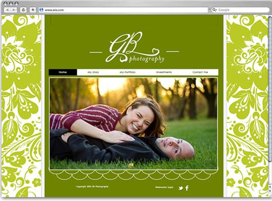 Cliente Wix Modelo de Site de Casamento