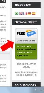 Para se Cadastrar clique na Lateral do Site - eShow 2013 São Paulo